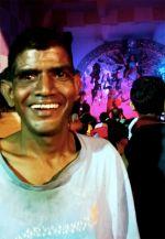 shuktara 2015 - Sunil at a pandal on Durga Puja