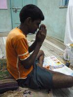 shuktara 2015 - Sunil praying, Vishwakarma Puja