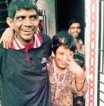 shuktara 2015 - Sunil with Muniya and Anna outside shuktara home