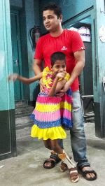 shuktara May 2016 - Pappu with Guria standing in her gaiters