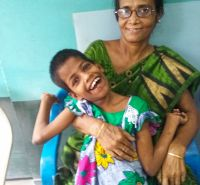 shuktara home for disabled girls - 2016 June - Guria & Tookie at Mobility India