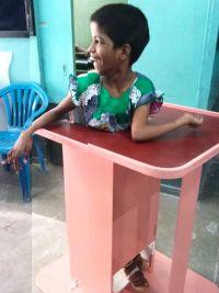 shuktara home for disabled girls - 2016 June - Guria in her standing frame