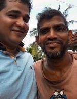 shuktara home for disabled youth - 2016 July - Sunil and Pappu on the roof