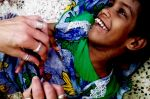 shuktara home for girls with disability - 2016 September - Guria getting her nails varnished
