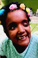 shuktara home for disabled girls - 2016 September - Moni dressing up