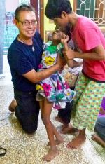 shuktara home for girls with disability - 2016 September - Steven with Guria and Tamina