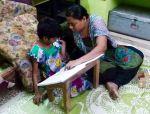 shuktara home for girls with disability - 2016 September - Priyanka tutoring Guria