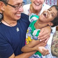 shuktara home for disabled girls - 2016 September - Steven and Tracy with Guria