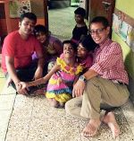 shuktara home for girls with disability - 2016 September - Pappu and Steven at Lula Bari