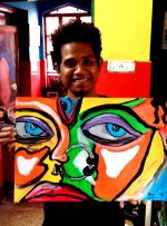 shuktara home for young adults with disabilities - Raja and his new art