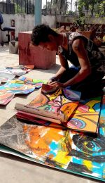 shuktara home for young adults with disability - Raja working on his art