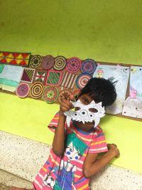 shuktara home for girls with disability - Diwali 2016 - Guria with her mask