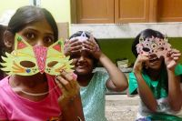 shuktara home for girls with disability - Diwali 2016 - Ipshita, Moni and Lali
