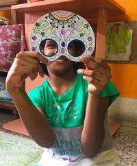 shuktara home for girls with disability - Diwali 2016 - masked Lali