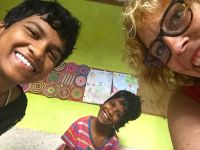 shuktara home for girls with disability - Diwali 2016 Prity, Guria and Sunnie