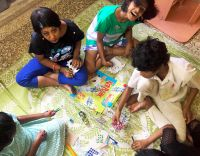 shuktara home for girls with disability - 2016 Diwali at Lula Bari - Moni, Muniya, Lali, Tamina, Prity