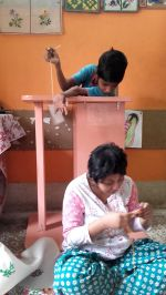 shuktara home for disabled girls - 2016 July - Guria & Muniya, stitching