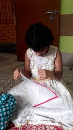 shuktara home for disabled girls - 2016 July - Prity concentrating