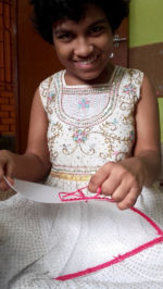 shuktara home for disabled girls - 2016 July - Prity smiling