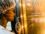 shuktara 2016 - Raju checking oven, Shuktara Cakes