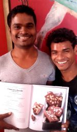 shuktara home for young adults with disability - 2017 February - Somnath and Raju try out a new recipe for Shuktara Cakes