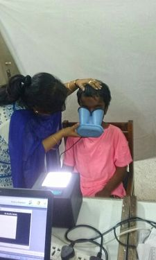 shuktara home for girls with disability - 2017 March - Moni has her retina scan