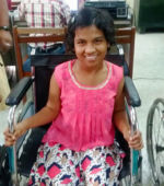 shuktara home for girls with disabilities - 2017 March - at REACH getting her Aadhar card
