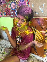 shuktara home for young people with disabilities - 2017 March Holi - Guria