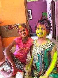 shuktara home for young people with disabilities - 2017 March Holi - Ipshita and Prity