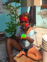 shuktara home for young people with disabilities - 2017 March Holi - Moni