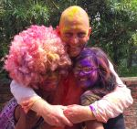 shuktara home for young people with disabilities - 2017 March Holi - Raja and his wife with David