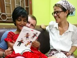 shuktara home for disabled girls - 2017 March - Puja, Simon and Emma