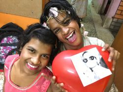 shuktara home for disabled girls - 2017 March - Prity and Lali having fun