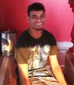 shuktara home for young people with disabilities - 2017 April - Raju at home