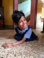 shuktara home for young people with disabilities - 2017 April - Guria in her school uniform
