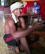 shuktara home for young people with disabilities - 2017 April - Bapi relaxing at home