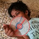 shuktara home for young people with disabilities - 2017 April - Guria practicing her stitching