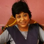 shuktara home for young people with disabilities - Muniya 2017 April - wearing her school uniform