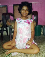shuktara home for girls with disabilities - 2017 May - Prity sitting on the floor