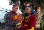 shuktara home for young people with disabilities - Raja and his family in costume in Darjeeling