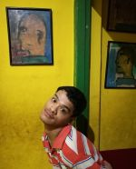 shuktara home for young people with disability - 2017 July - Ashok in front of a yellow wall
