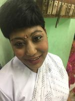 shuktara home for girls with disabilities - 2017 August - Muniya smiling in her costume at REACH