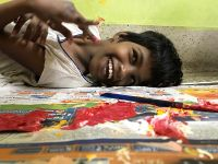 shuktara - 2017 October - Guria thrilled as usual to be participating in the leaf painting