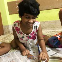 shuktara - 2017 October - Prity working on her leaf
