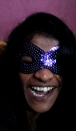 shuktara - Lali in sequin mask