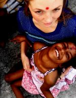 shuktara home for disabled girls - 2016 November - Tallula Bentley holding aways-smiling Guria