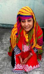 shuktara home for disabled girls - 2016 November - Muniya dressed in bright colours!