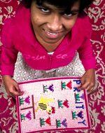 shuktara home for disabled girls - 2017 January - Prity finishes her sampler