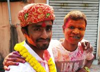 shuktara home for young people with disabilities - 2017 March Holi - Bapi and friend
