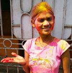 shuktara home for young people with disabilities - 2017 March Holi - Ipshita